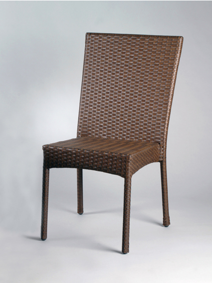 Sedia intrecciata alluminio usata